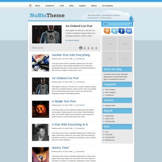 Blog Oh Blog NuBluTheme