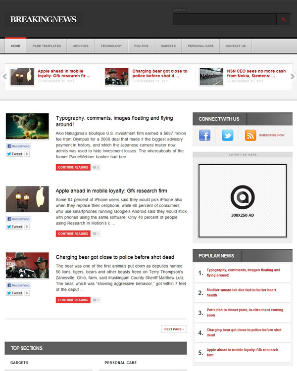 Acosmin BNEWS Theme