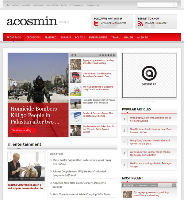 Acosmin Gazette Theme
