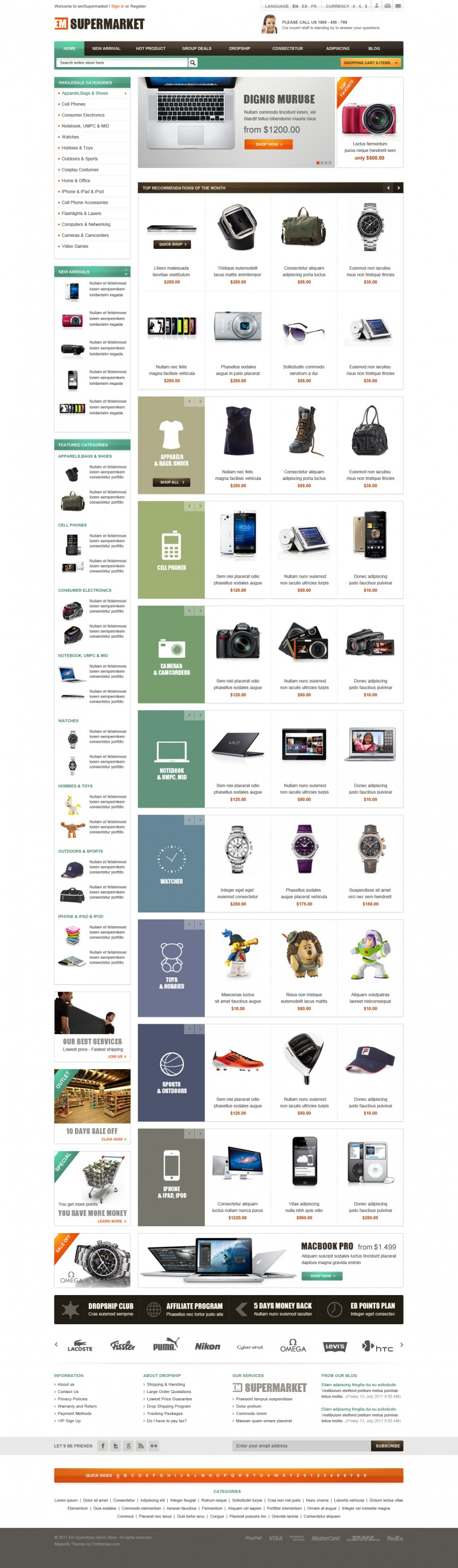 Em Supermarket Magento Theme Review