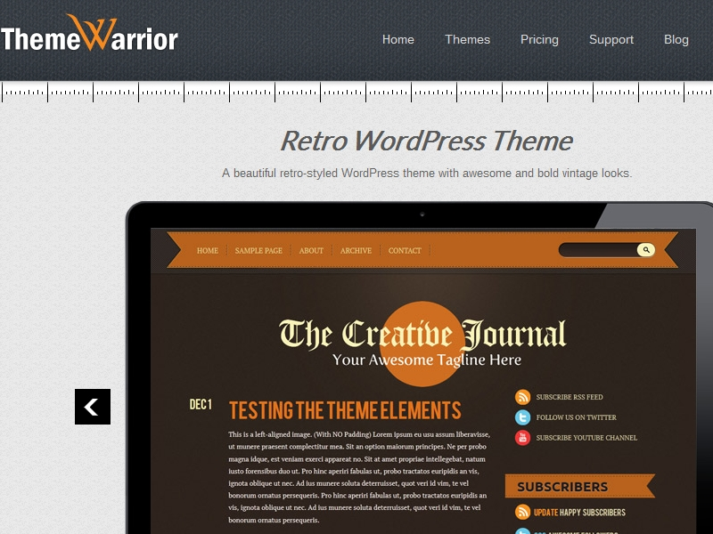 ThemeWarrior Retro Theme