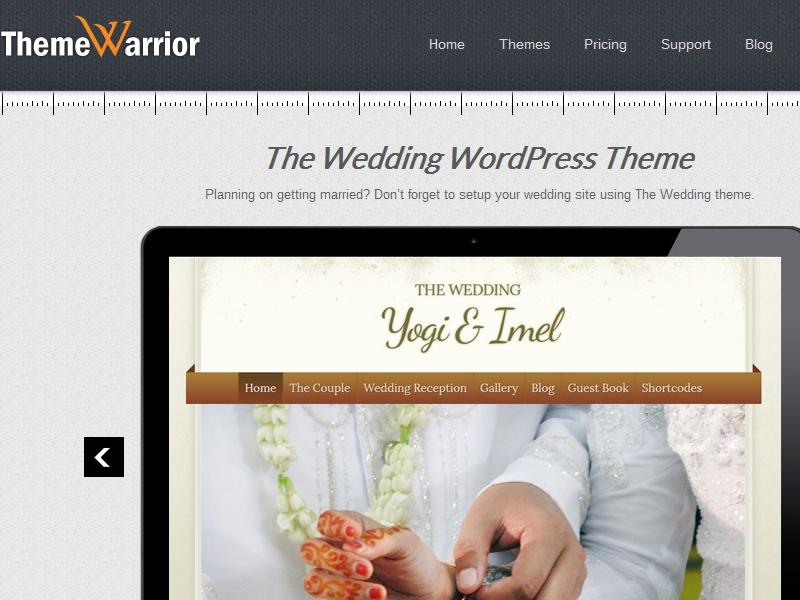 ThemeWarrior The Wedding Theme