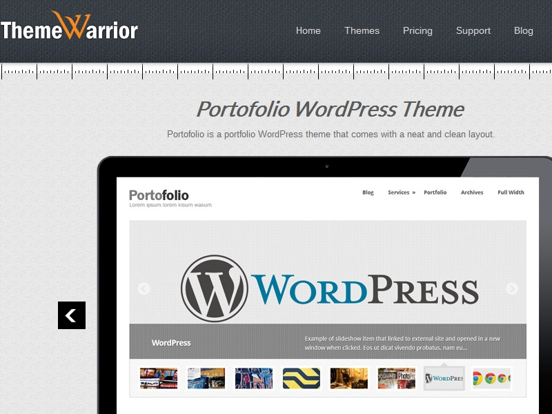 ThemeWarrior Portofolio Theme