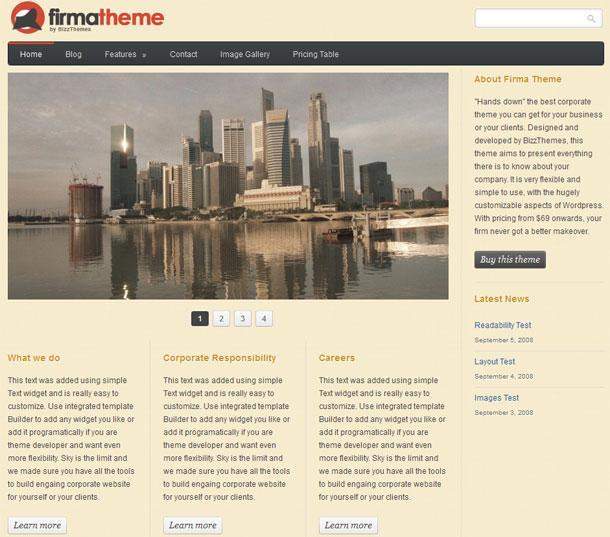 BizzThemes Firma Theme