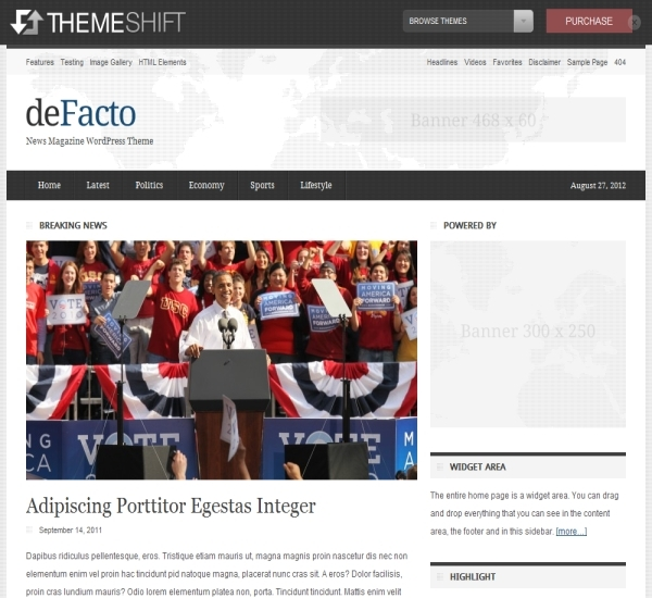 ThemeShift deFacto Theme