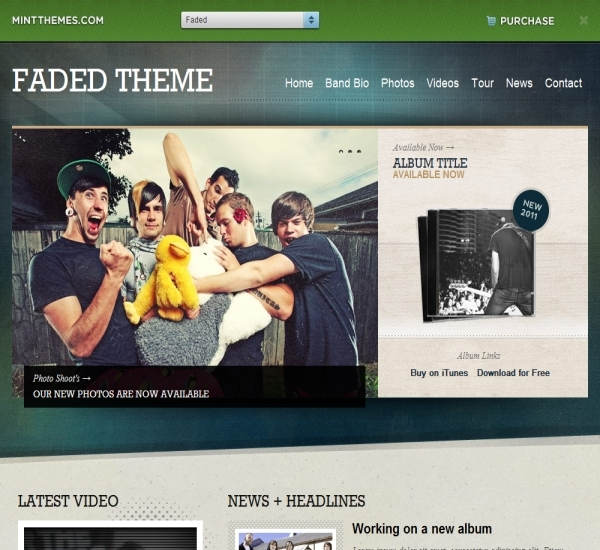 Mint Themes Faded Theme