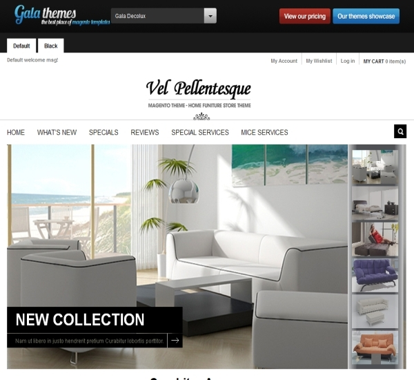Furniture Magento Theme - Gala Decolux