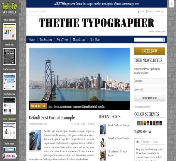 TheThe Typographer Theme