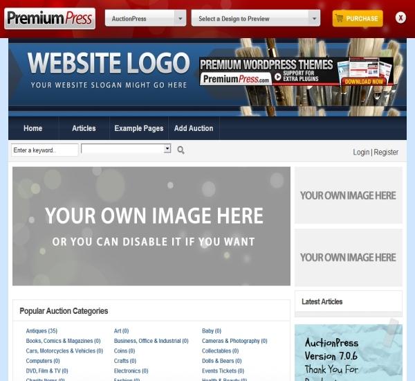 PremiumPress WordPress Auction Theme