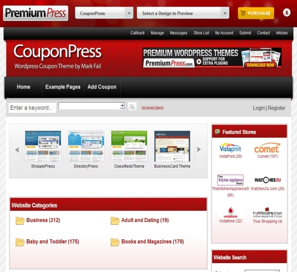PremiumPress WordPress Coupon Theme