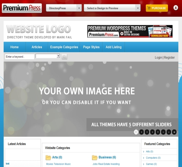 PremiumPress WordPress Directory Theme