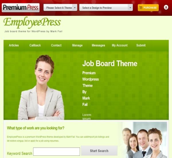 PremiumPress WordPress Job Board Theme