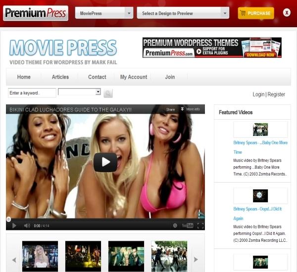 PremiumPress WordPress Video Theme