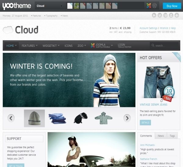 Yootheme Cloud Joomla Template