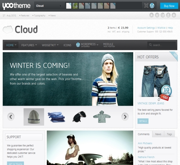 Yootheme Cloud WordPress Theme