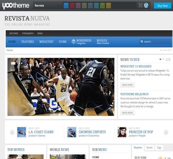 Yootheme Revista WordPress Theme