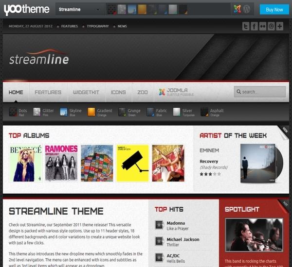 Yootheme Streamline Joomla Template
