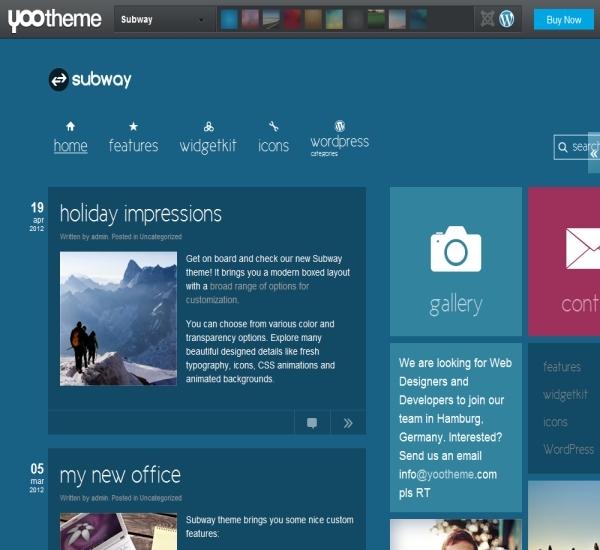 Yootheme Subway WordPress Theme