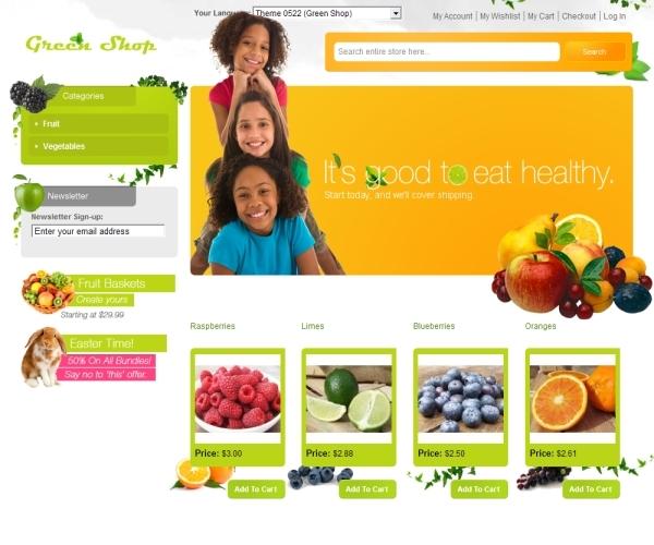 AheadWorks GreenShop Magento Theme