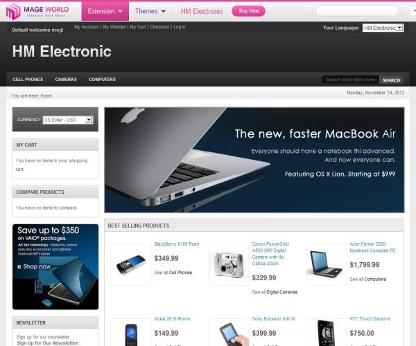 MageWorld HM Electronic Magento Theme