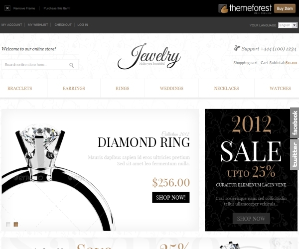 ThemeForest Jewelry Store Magento Theme