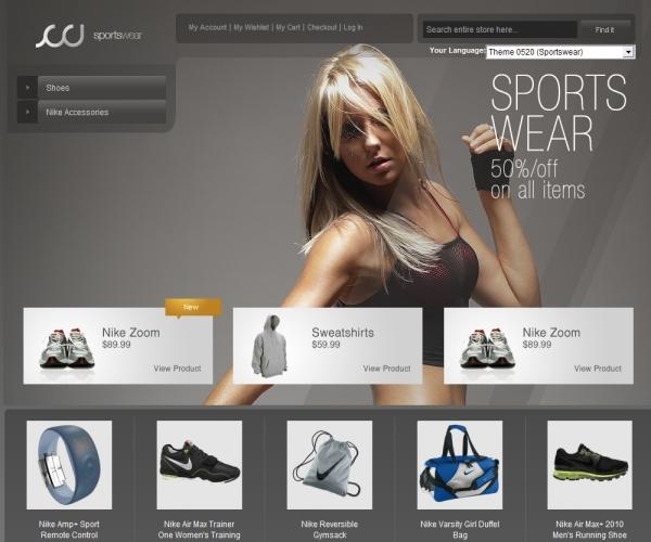 AheadWorks Sportswear Magento Theme