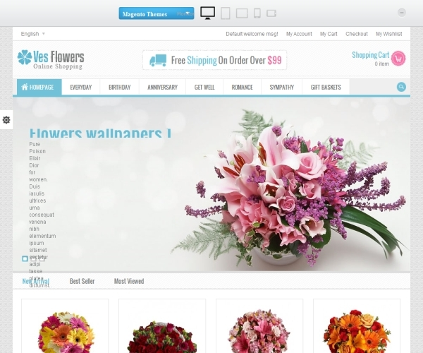 VenuTheme Ves Flowers Magento Theme