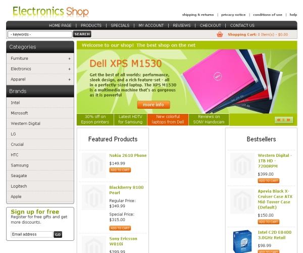 Electronics Shop-Premium Magento Theme for online Consumer Stores
