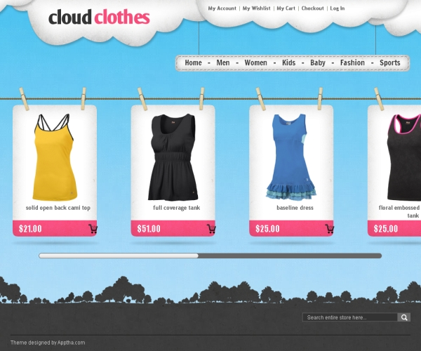 Cloud Clothes –Premium Magento theme for online clothing stores