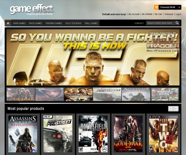 Game Effect-Premium Magento theme for online game stores