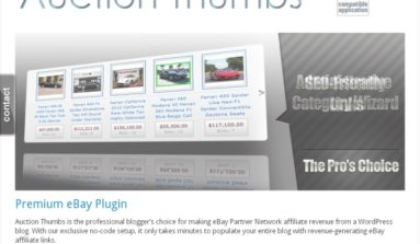 Auction Thumbs Plugin Review- A Premium WordPress plug-in for creating eBay Partner network sites