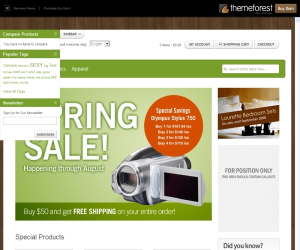 ThemeForest Boutique Magento Theme