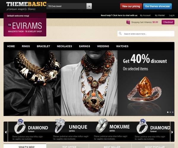 ThemeBasic EverJewel Premium Magento Theme