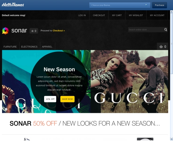 Hello Sonar-Premium Magento theme