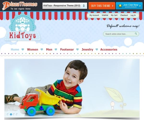 PlazaThemes KidsToys Magento Theme