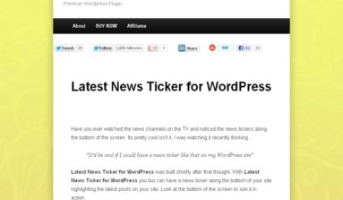 Latest News Ticker Plugin Review-A Premium WordPress Ticker plug-in