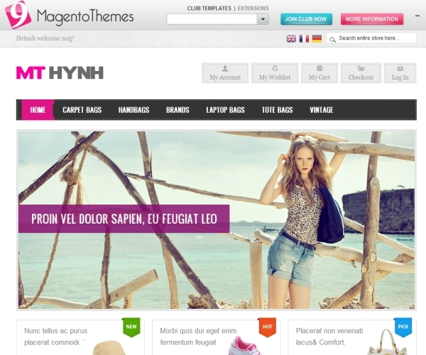 MT Hynh Premium Magento Theme