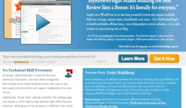 """My Review"" Plug-in Review-A Premium Plugin for WordPress Review Sites"
