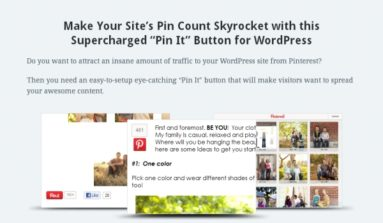 Pinterest Plug-in Review- A Premium Plugin to allow PinInterest integration