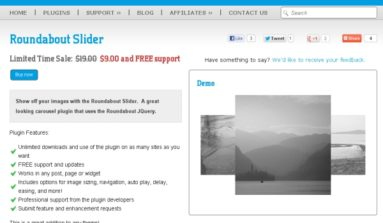 Roundabout Slider Plugin Review-A Premier graphic Plug-in for WordPress