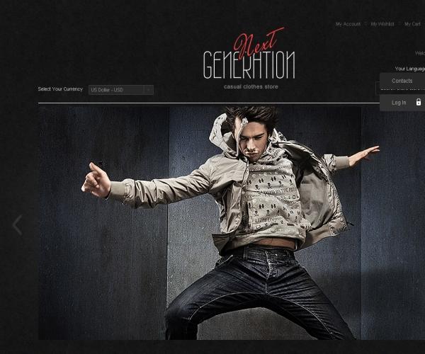 Next Generation-Premium Magento template
