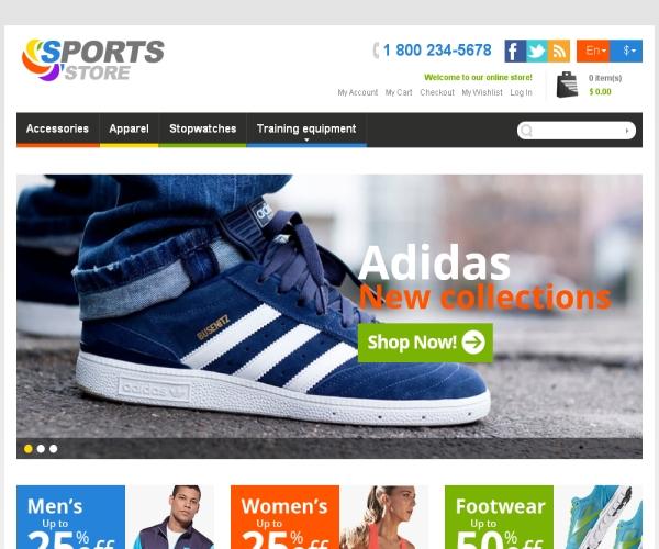 Sports Store-Premium Magento Theme