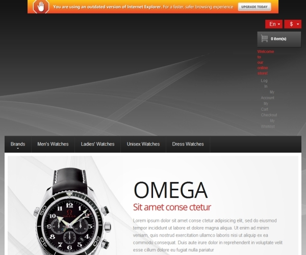 Watches Premium Magento Theme