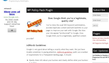 WP Policy Pack Plug-In Review- A Premium plugin for better search ranking for WordPress sites