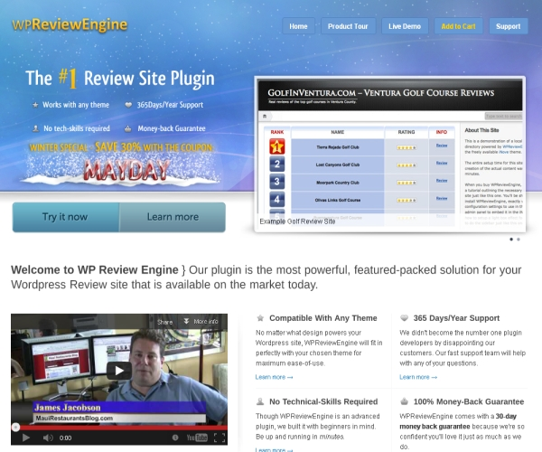 WP-Review Engine Plug-In