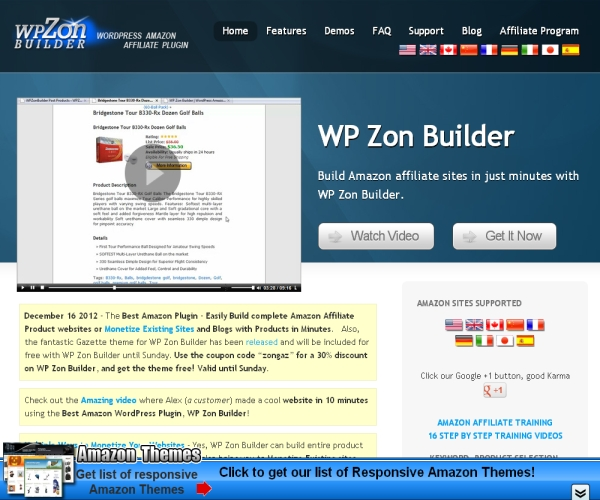 WP Zon Builder-Premium WordPress plug-in for Amazon Affiliate sites