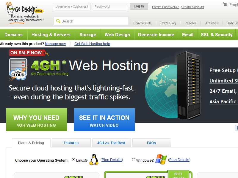 GoDaddy Web Hosting