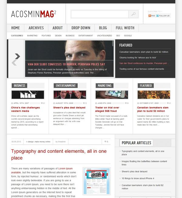 Acosmin Mag2 Theme
