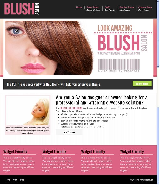 Aloha Themes Blush Salon Theme