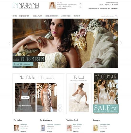 Em MarryMe - Wedding Magento Theme